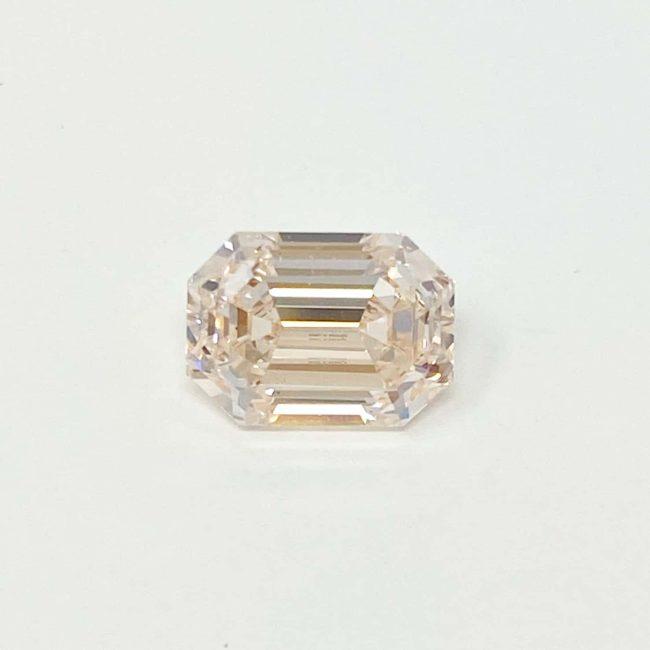 1.69ct Light Pink Emerald Cut Diamond