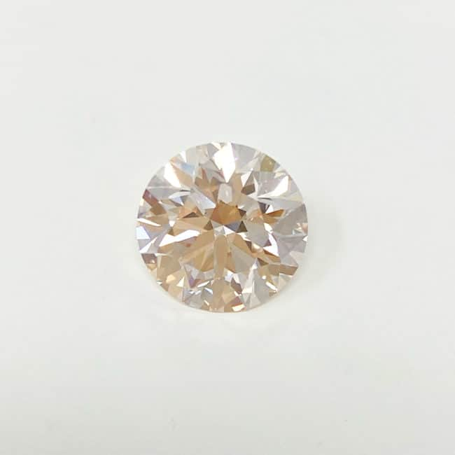 3.30ct Light Pink Round Cut Diamond